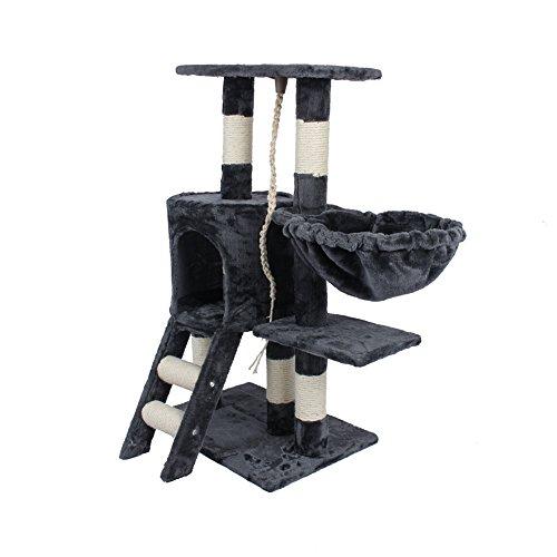 Rascador para gatos, con varios niveles para que escale y juegue, de 30cm x 55cm x 96cm