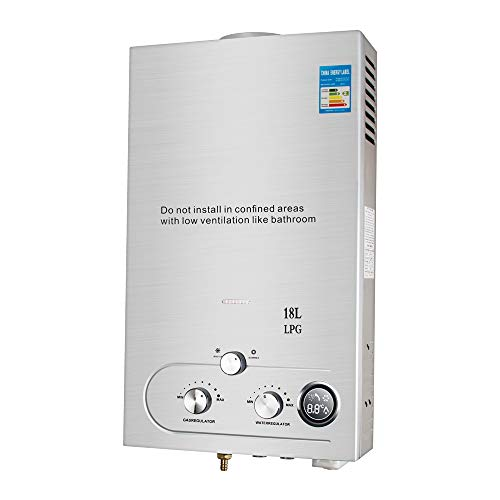 vinmax 18L Tankless LPG Propane Gas Hot Water Heater Instant Boiler Bathroom Shower(Shipping from USA)