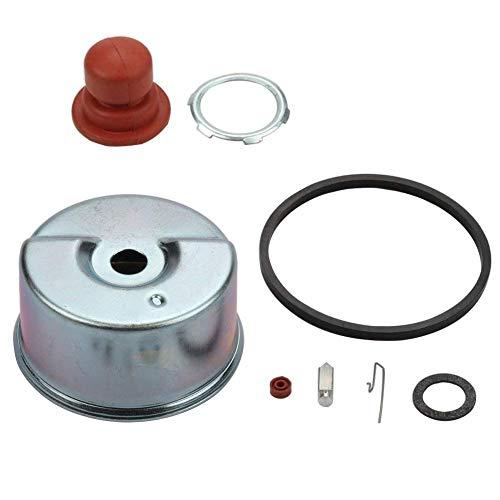 JJDD - Kit de repuesto para bombillo de imprimación de carburador y asiento de aguja para cortacésped Tecumseh ECV100 LAV35 TVS75 TVS90 TVS100 TVS105 TVS115 TVS120 631843 631902 Carb