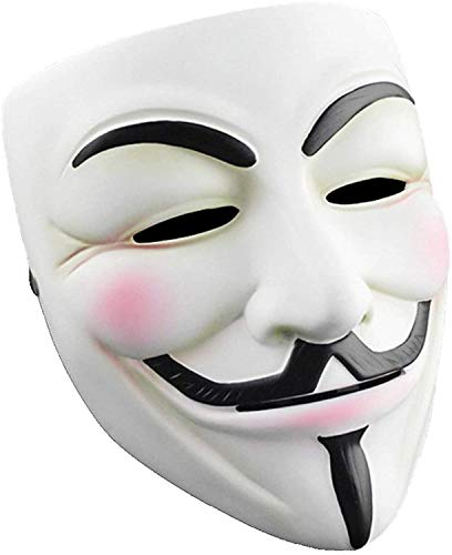 V for Vendetta Mask, Hacker Mask Halloween Masks - Guy Masks for Kids Costume