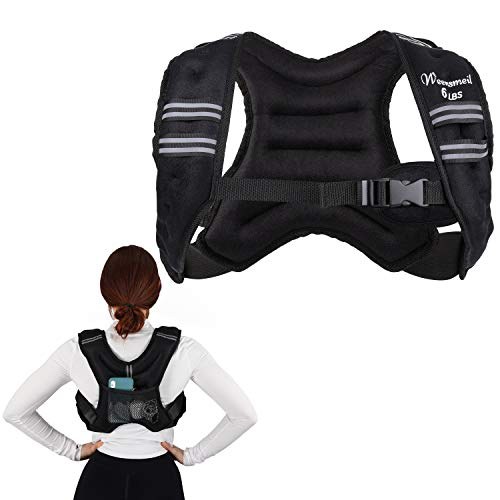 Sport Weighted Vest Workout Equipment - Exercise Body Fixed Weight Vest for Women Men Kids for Strength Training, Jogging, Cardio, Running, Gymnastics, Weightlifting - Black, 12LBS