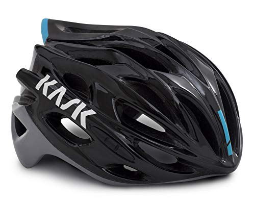 Kask Mojito X - Casco de Carretera Unisex, Unisex Adulto, Color Black/Azur, tamaño Medium