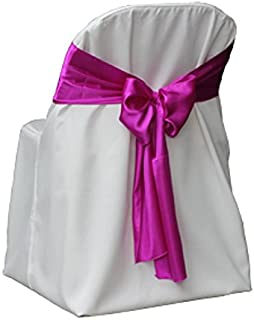 Best white satin universal chair covers Reviews