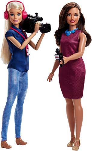 Barbie Quiero Ser presentadora de notícias, muñeca con accesorios (Mattel FJB22)