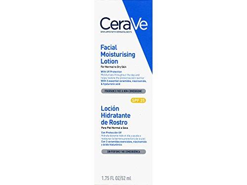 CeraVe, crema idratante per il viso, protezione solare SPF25, 52 ml