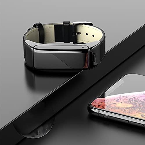 QOHG Nueva Pulsera Inteligente de Llamada Bluetooth B6 Auriculares B6 Dos-uno Rate cardíaco Monitoreo de la presión Arterial Step Sports Watch