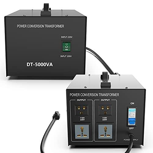 5000W 変圧器 100v 110v 220v アップトランス ダウントランス 海外 電源変換プラグ 自由変換 昇圧・降圧両用型 AC100V/110~120V to AC200V/220V~240V ポータブルトランス