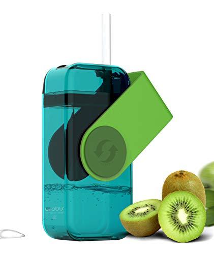 ASOBU JB300 GREEN Botella zumos THE JUICY 290ml verde, 10 Fluid_Ounces, Plástico