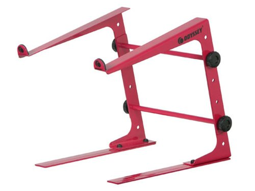 Odyssey Lstandred Red DJ Laptop Stand with Clamps DJ Laptop Stand