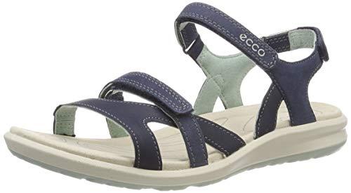 ECCO Damen CRUISE II Flat Sandal, Blau (MARINE/ICE FLOWER), 38 EU