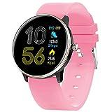 HQPCAHL Smart Watch, Android Smartwatch Touchscreen Bluetooth Smart Watch Für Android-Handys Armbanduhr Mit Kamera, wasserdichte Sport-Fitness-Tracker-Uhr Für Männer Frauen Kinder,Orange