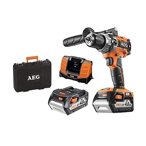 AEG 4935464097 Taladro percutor compacto 18V 13mm. 2vel - 2 bat x 4,0Ah, 65Nm