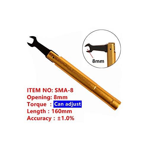 SMA Drehmomentschlüssel RF Anschluöffnung 8 mm electrommunication Coax-Adapter-Konverter Gerader vergoldeter Schlüssel