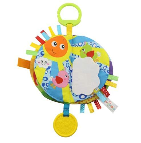 Smiim 布 絵本 布 えほん かわいい動物の布おもちゃ はがため お出掛けの時にも持っていける (お空)