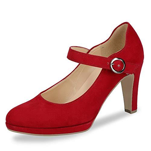 Gabor 31.271 45 Damen klassischer Pumps aus Lederimitat Lederinnenausstattung, Groesse 41, rot