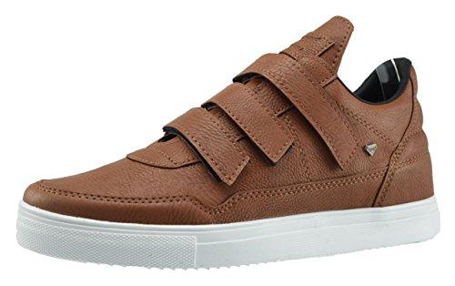 CAPRIUM Sneaker high Schuhe Sportschuhe Basket Sneakers Herrenschuhe Damenschuhe, Unisex 002 Größe 42, Farbe Braun Weiß
