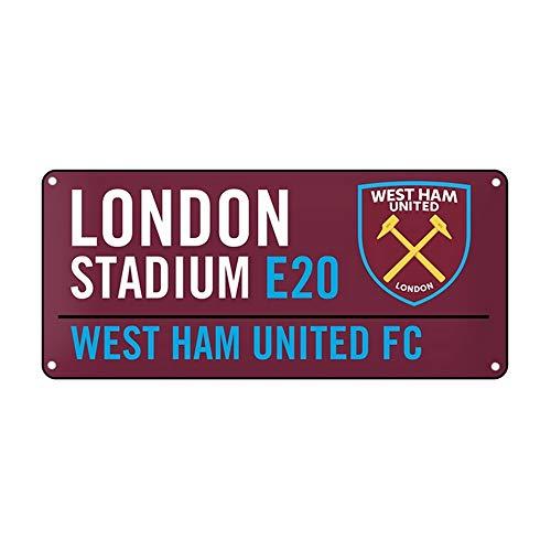 West Ham United FC- Targa decorativa ufficiale con stemma (Taglia unica) (Rosso scuro)