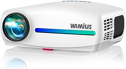 WiMiUS S1 Native 1080P Projector 8000L Full HD, Support Wireless Mirroring with WiFi Dongle / 60HZ Fresh Rate, Home & Outdoor Video Projector w/ 4D Keystone / 10Watt Stereo for iOS, Android, TV Stick