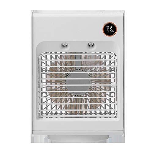 Lsdnlx Ventilador,Mini Ventilador de refrigeración por Agua Aire Acondicionado Ventilador de Escritorio USB Conveniente Enfriador de Aire de Control Remoto para la Oficina en casa