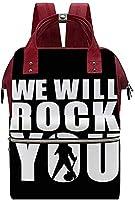 We Will Rock You 防水ュック マザーズバッグ ママバッグ おしゃれ大容量 軽量 多機能 で耐久性 旅行リ負担を軽くのあるする高密度クッション採用 保温ポケット旅行男女兼用
