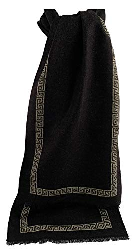 Sciarpa invernale da uomo Pietro Baldini - Sciarpa nero realizzata in 100% seta - Messura 30 x 180