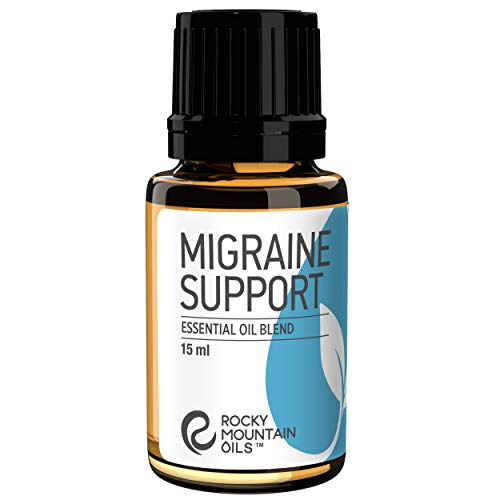 Rocky Mountain Oils Migraine Support Essential Oil Blend with 100% Pure and Natural Essential Oils - Aromatherapy Oils for Diffuser and Topical - Headache and Migraine Relief - 15ml