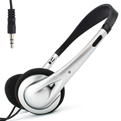 I-CHOOSE LIMITED Auriculares estéreo livianos en la Oreja con Cable de 3 m de Largo (300 cm) para PC Ordenador portátil Tableta TV iPod/Enchufe estéreo de 3.5 mm