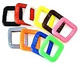 Schlüsselkennringe (10 Stück) für eckige Schlüsselköpfe in Bunt gemischt