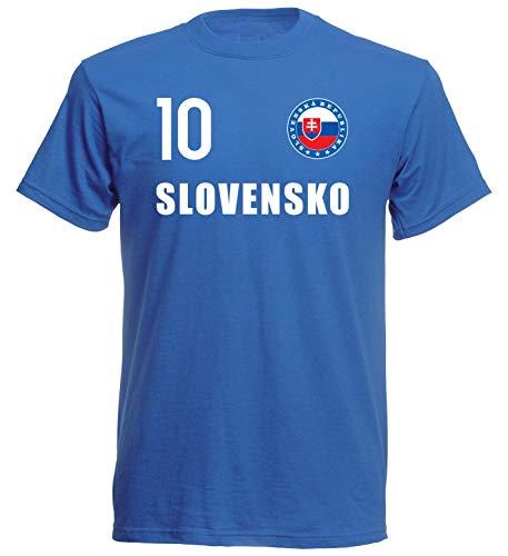 Nation Slowakei T-Shirt Trikot Wappen FH 10 BL (XL)