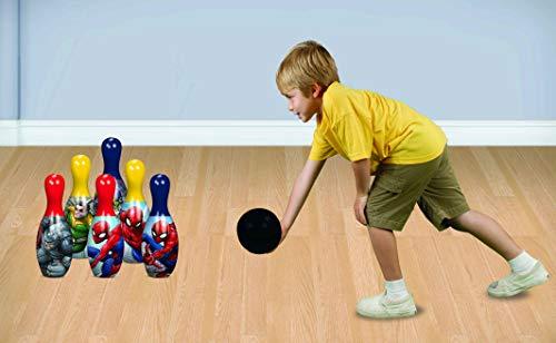 The Amazing Spider-Man (Spiderman) Bowling Set Inklusive 6 Kegel Und Bowling Kugel