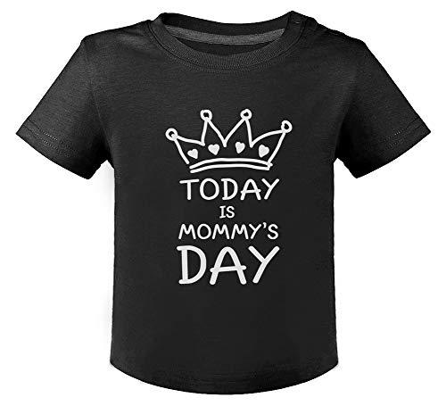 Green Turtle Fête des mères - Today is Mommy's Day - Mother's Day T-Shirt Bébé Unisex 12M Noir