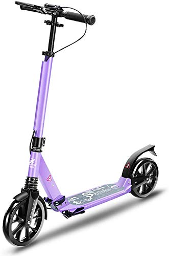ZHYF Scooter Scooter Plegable Scooter de Rueda Grande para Adultos: patín de...