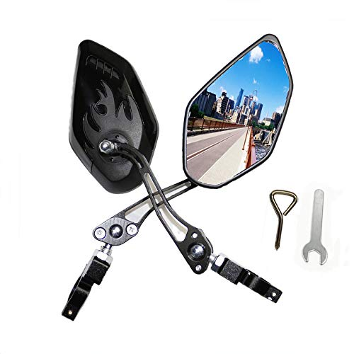 XIGRALUCK Bike Mirror, 2 Pcs Bicycle Mirrors for Handlebars Mount, Adjustable Safe Rearview Bike Mirrors for Road Mountain Bicycle (Black)