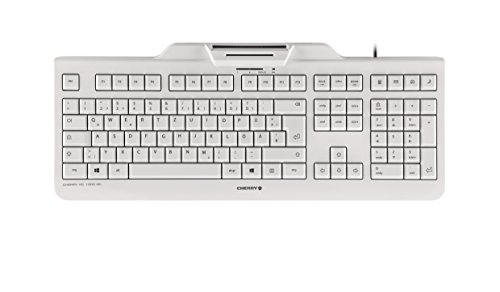 CHERRY KC1000 SC Corded Security Keyboard USB ultraflat Grey mit integriertem Smartcard-Terminal (DE)
