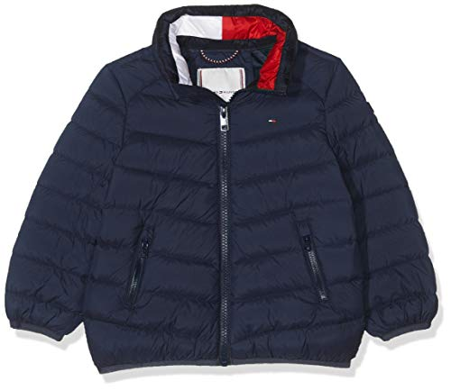 Tommy Hilfiger U Light Down Jacket Chaqueta, Azul (Black Iris 002), 74 para Bebés