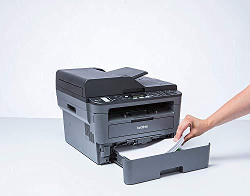 Brother MFCL2710DW - Impresora multifunción láser monocromo con fax e impresión dúplex (30 ppm, USB 2.0, Wifi, Ethernet, Wifi Direct, procesador de 600 MHz, memoria de 64 MB) gris