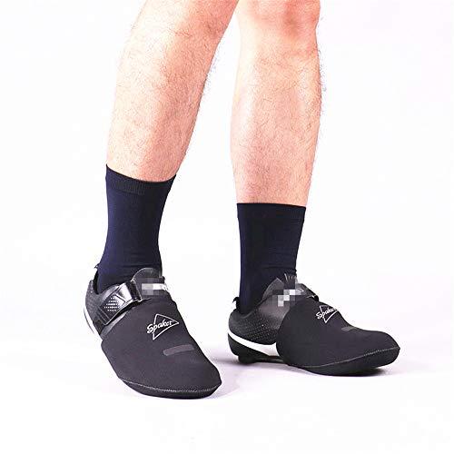 Ciclismo Overshoes Cubierta para calzado a prueba de viento para montar en bicicleta Sensación clásica Calentamiento de los zapatos Point Set Toe Calzado para cubrir el calzado En Bicicletas de Montañ