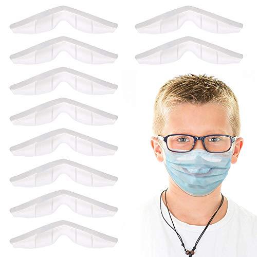 10 Stück Nasenbügel,Silikon Nasenbrücke,Nasenbrücke anti fog,Antibeschlag Brille Nasenbügel,Nebelschutz Innenhalterung Schutzhülle,Kieselgel Nasenbügel,Wiederverwendung Nasenbügel Antifog