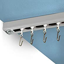 RoomDividersNow Ceiling Track Set - Medium, For Spaces 6ft - 12ft Wide (Silver)