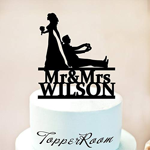 DKISEE Cake Topper Wedding Engagement Acrylic Decoration Gaming Video Game Controller Party Cake Topper Anniversary Day Baking Supplies