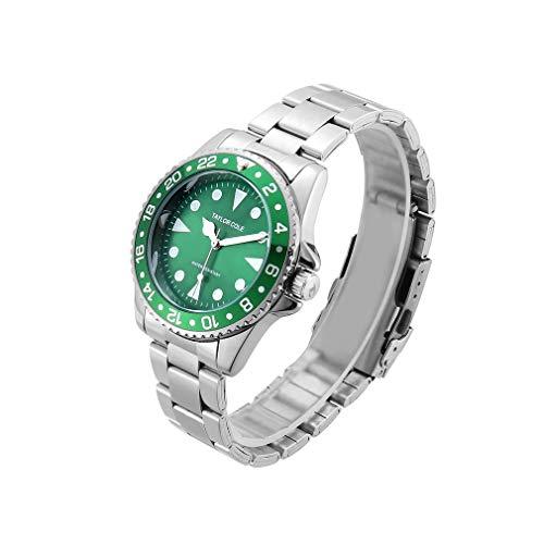 CandyTT 1818-6 Reloj de Cuarzo con Tira de Acero Reloj de Pulsera de Cuarzo Encantador de Moda Reloj de Pulsera de Ocio Decoración de Mano Reloj de Cuarzo Exquisito (green1818-6)