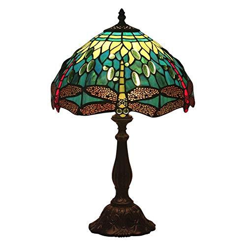 AWCVB Tiffany Baroco Lámpara Material Material Iglesia Plug-In Tiffany Table Lámpara Estudio De Dormitorio Europeo Restaurante