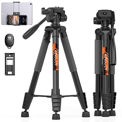 KINGJOY 75' Camera Tripod for Canon Nikon Lightweight...