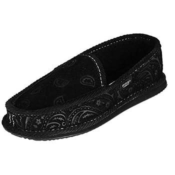 Trooper America Men s Monotone Paisley Bandana Print House Shoe Slippers 7 Black