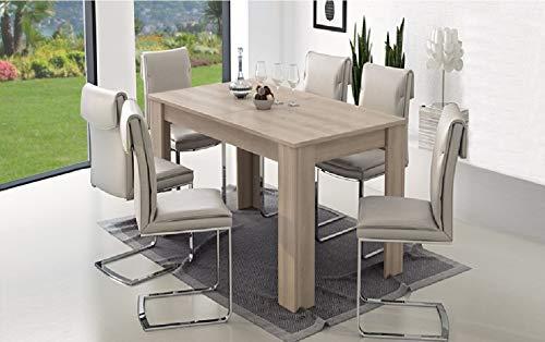 Am Group Home Tavolo allungabile cm 160 x 90 Cucina, Sala da Pranzo, Soggiorno, Living Finitura Olmo
