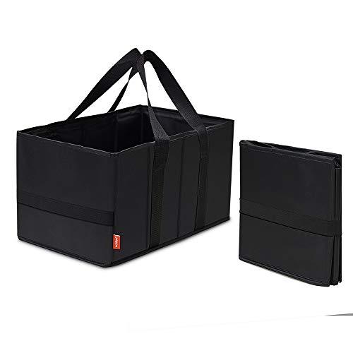 achilles Smart-Box Faltbare Einkaufs-Tasche Falt-Korb Klapp-Box Picknick-Korb Falt-Tasche Aufbewahrungs-Organizer Transport-Kiste Trage-Korb Schwarz 37 cm x 20 cm x 23 cm