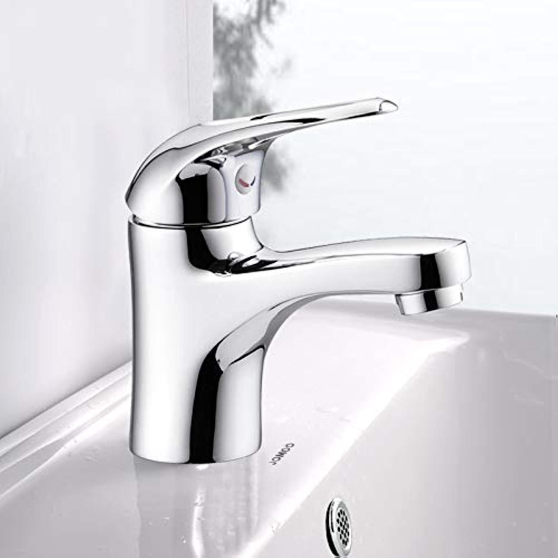 CZOOR Becken Wasserhahn Bad Einlochmontage Wasserhahn Waschbecken Waschbecken Wasserhahn über der Theke Becken heies und kaltes Wasser Splash Wasserhahn, 3289