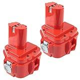 2X Reemplazo para Makita Batería 12V 3.0Ah Ni-MH 1220 1222 1233 PA12 1200 1234 1235 1235B 1235F...