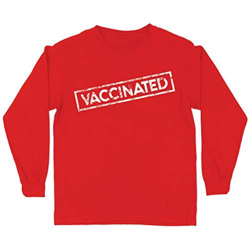 lepni.me Kinder T-Shirt Geimpfte Impfstoffe Retten Leben 2021 Aufklärungsarbeit Outfit (5-6 Years Rot Mehrfarben)