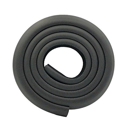 M2cbridge L Shape Extra Thick Furniture Table Edge Protectors Foam Baby Safety Bumper Guard 6.5 Ft (Black)